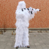 Snow White Tactical Sniper Ghillie Suit Camouflage Suit for Snow Field Hunting