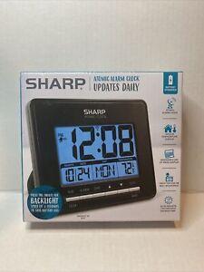 Sharp Atomic Desktop Clock – Auto Set Digital Alarm Clock - Atomic Accuracy -...