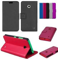 Genuine PU Leather Wallet Flip Book Cover Case For Nokia Lumia 635 RM 974 RM 975