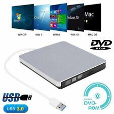 Slim Externes USB 3.0 DVD Laufwerk RW CD Brenner Leser Player für Laptop PC DHL