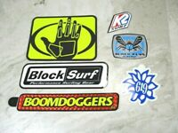 Surf Skateboard Decal Stickers Lot of 6 Boom Doggers Body Glove Block K2 Etc