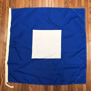 Signal Flag International Code Letter P Maritime Nautical Size 4 (#J19)