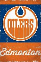 EDMONTON OILERS ~ SCRATCH LOGO 22x34 POSTER NHL National Hockey League
