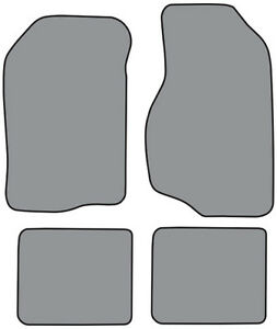 1984-1988 Dodge 600 Cutpile Carpet Logo Floor Mat 4pc