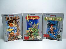D1700513 CASTLEVANIA SERIES SET 1 2 3 NES NINTENDO 100% COMPLETE TESTED GAME