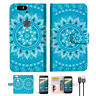 BLUE AZTEC TRIBAL Wallet Case Cover For Google Pixel-- A001
