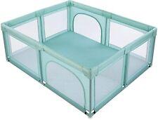 Baby Laufstall Kinderzaun Spielstall Spielgitter mit Einstieg 210D Oxford-Tuch