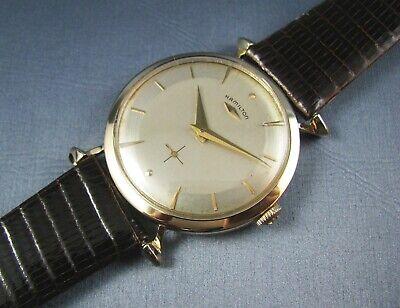 Vintage Hamilton SIR ECHO Solid 14K Gold Mens Watch 22J 770 1958 Serviced