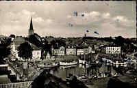 Neustadt 1955 Hafen Schiffe Boote Panorama Stadt Wohnhäuser Häuser Kirche Straße