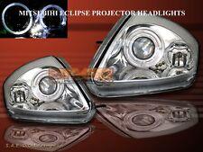2000-2005 MITSUBISHI ECLIPSE PROJECTOR HEADLIGHTS CHROME TWIN HALO W/ L.E.D.