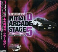 Initial D Arcade Stage 5 soundtracks + CD SUPER EUROBEAT presents Free Shipping