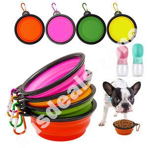 Silicone Folding Bowl Pet Dog Food Feeding Water Travel Portable Food Bowl Dish