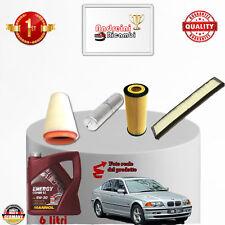 KIT TAGLIANDO FILTRI + OLIO BMW SERIE 3 320d E46 110KW 150CV DAL 2002 -> 2004