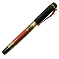 Luoshi 530 Fountain Pen Smooth Writing Wooden Golden Trim M Nib A2P6 P4V6 A4I1