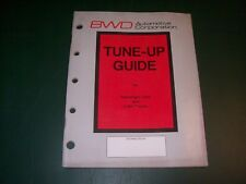 BWD Tune-up Guide for Passenger Cars and Light Trucks 1984-1970