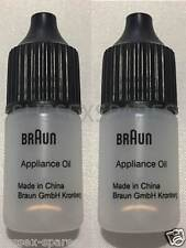 GENUINE BRAUN SHAVER OIL 2 X 5ML BOTTLES, CLIPPERS REMINGTON PHILIPS PANASONIC