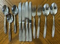 Imperial EARLY ROSE Stainless Spoons Forks Knives Teaspoons USA Lot of 11