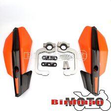 "Pair Orange 7/8"" Handlebar Handguards Fit KTM 250 350 450 400 500 530 SXF XCF XC"