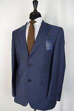 Men's New Alexandre Savile Row Blue Regular Fit Suit 38S W32 L28 AA1401