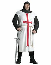 Templar Knight Renaissance Medieval Crusader Adult Costume, Plus Size