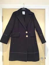 Mango Black Warm Winter Coat, Size Small, Only Worn Once, (8/10)