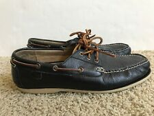 Men's Ralph Lauren Polo Dark Brown Leather Boat Deck Casual Shoes Size 12D