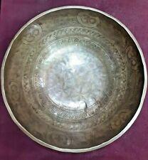 Gehämmerte Klangschale geschnitzt Singing Bowl Tibetan Etched Hand Hammered