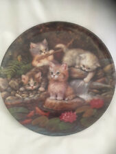 Bradford 1996 Am Seerosenteich Kittens At The Pond Ltd Ed Plate