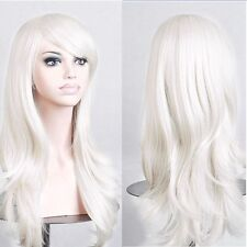 Real Thick Synthetic Hair Wig Long Layer Full Wigs Cosplay Party Daily Dress E