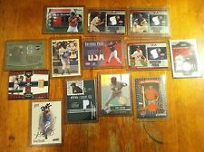 Random lot of baseball cards game worn auto 13 cards Usa Nationial Pride + More!