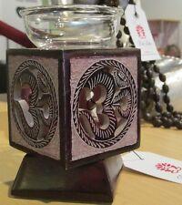 OM Aum Symbol AROMA LAMP Essential Oil Burner Diffuser CARVED Soapstone INDIA