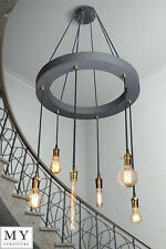 Industrial Style Chandelier Vintage Retro Light Bars Restaurants Stairwells Grey