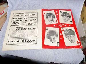 THE BEATLES 4 ACES TOUR  SHOW 1964 CONCERT SOUVENIR PROGRAMME AWESOME CONDITION!