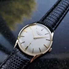 LONGINES Men 14K Gold Dress Watch Hand Wind cal.370 c.1950s Swiss Vintage LV526