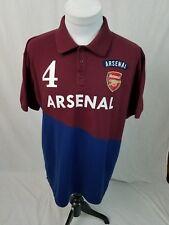 ARSENAL Football Soccer Club #4 Per Mertesacker Polo Shirt Mens UK-2XL XL