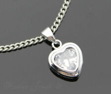 Silver Plated Love Hearts Fashion Necklaces & Pendants