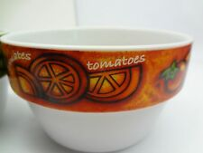 Pair of Joie Tomato & Asparagus Bowls Microwave Dishwasher Safe