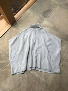 Soft Grey Jumper Batwing / Cape Great Condition
