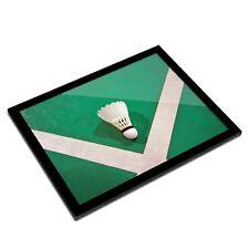 A3 Glass Frame - Cool Badminton Shuttlecock Art Gift #3073