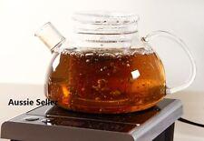 Heat Resistant Elegant Clear Glass Teapot 800ml