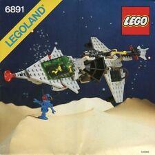 LEGO GAMMA V LASER CRAFT 6891 Set Classic Space 2x minifig black astronaut