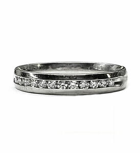 Diamond Wedding Band with Channel Set Diamonds, 20pts. in 14kt White Gold