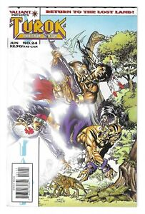 TUROK DINOSAUR HUNTER #24 -- HI-GRADE! VALIANT Comics! June 1995! NM-