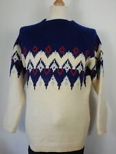 Vtg Mens Nordic Icelandic Thick Heavy Winter Jumper Sweater Size Medium