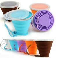 270 ml Collapsible Mug Outdoor Travel Camping Drinking Water Foldable Cup AUS...