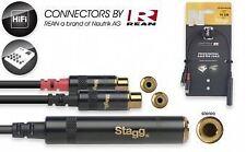 Stagg N - 1/4 STEREO Series presa Jack - 2 X RCA - 10 cm Donna