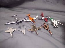 Lot of 8 Diecast Airplanes Planes Helicopters Military Aircraft Marine