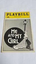 VINTAGE BROADWAY PLAYBILL #91 - ME AND MY GIRL ROBERT LINDSAY MARYANN PLUNKETT