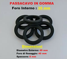 Passacavo in gomma anello gommino pvc da incasso foro interno 35 mm