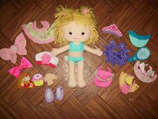 Playskool Dressy Daisy Hasbro LOT Plush Doll Dress Up Play Set Valentines Easter